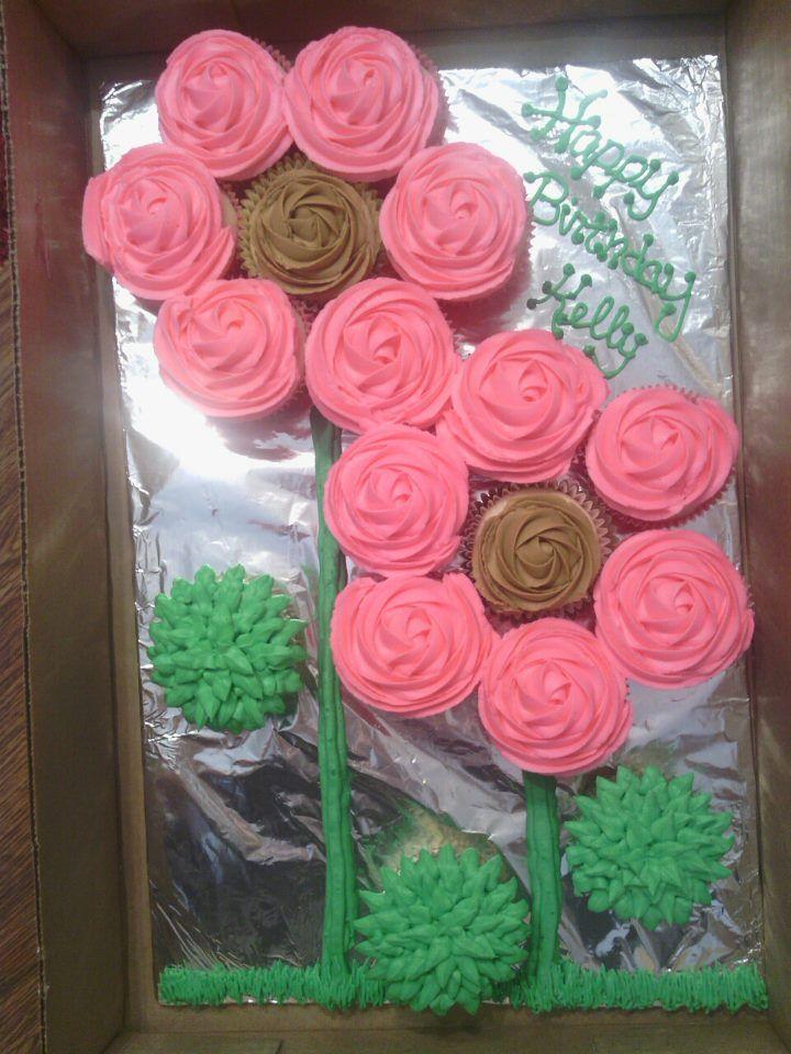 Flower Pull Apart Cupcake Cake