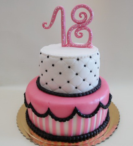 7 2 Tier 18th Birthday Girl Cakes Photo Girls 18th Birthday Cake