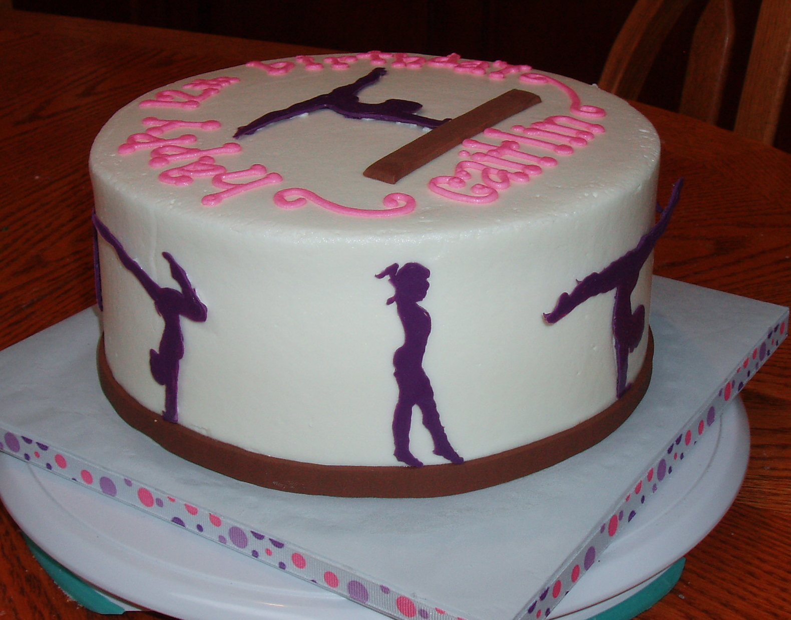 11 Tumbling Birthday Cakes Photo Gymnastics Birthday Cake