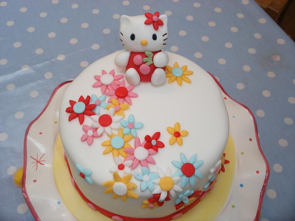 Fabulous 7 Hello Kitty Bday Cakes Photo Hello Kitty Cake Ideas Hello Birthday Cards Printable Benkemecafe Filternl