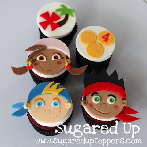 Peachy 8 Diy Jake And The Neverland Pirates Cupcakes Photo Jake And Funny Birthday Cards Online Elaedamsfinfo
