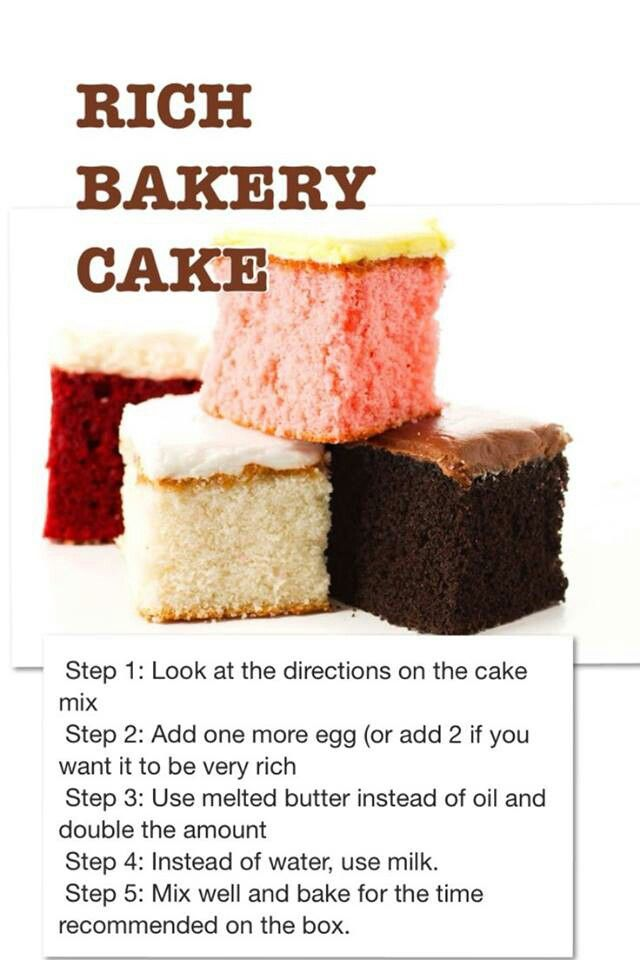 6 Cakes From A Bakery Cake Mix Photo Homemade Cake Mix Recipe