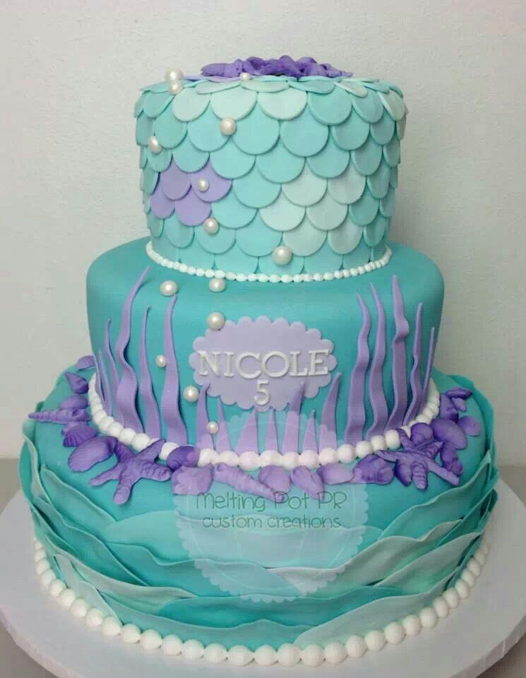 Fabulous 10 Mermaid Birthday Cakes For Girls Photo Mermaid Birthday Cake Personalised Birthday Cards Veneteletsinfo