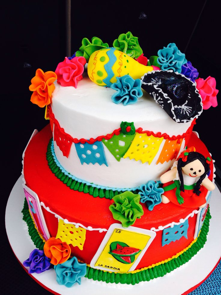 Fine 11 Fiesta Birthday Party Cakes Photo Mexican Fiesta Birthday Funny Birthday Cards Online Elaedamsfinfo