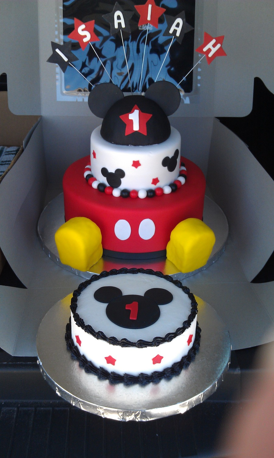 Terrific 11 Mickey Mouse 1St Birthday Cakes Boys Photo Baby Mickey Mouse Personalised Birthday Cards Bromeletsinfo