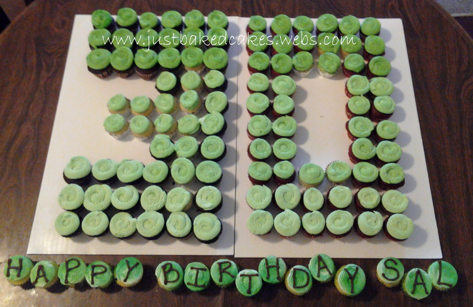 Number Shaped Cupcake Cakes