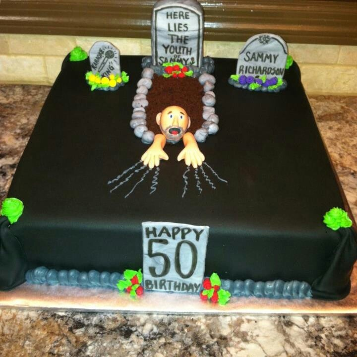 Over The Hill Birthday Cake Idea