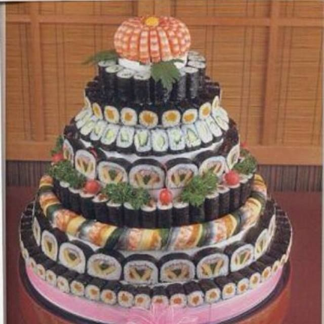 9 Asian Wedding Cakes In Hawaii Photo Sushi Wedding Cake Chinese