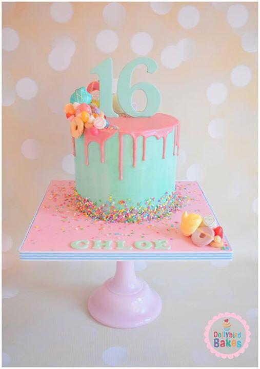 11 Easy Birthday Cakes Sweet 16 Photo Sweet 16 Birthday Cake Idea