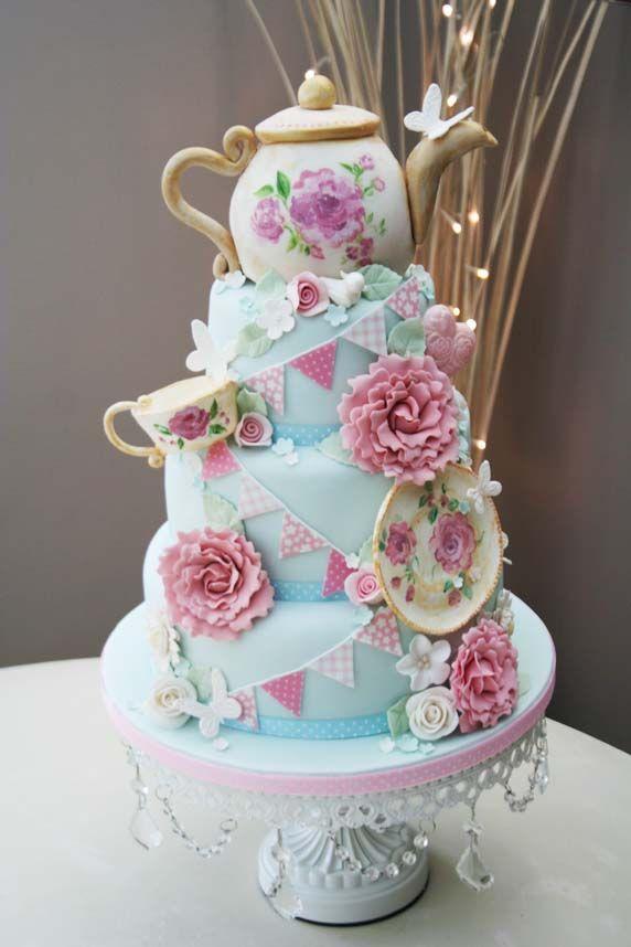 13 Vintage Themed Cakes Photo Vintage Tea Party Birthday Cake