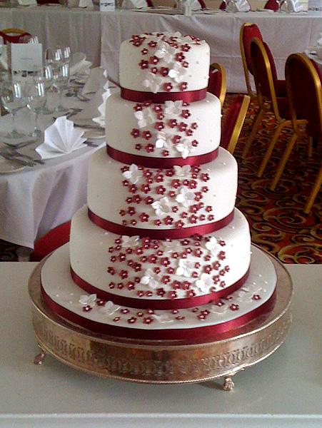 12 Wedding Cakes With Red Flowers On Pinterest Photo Wedding Cake