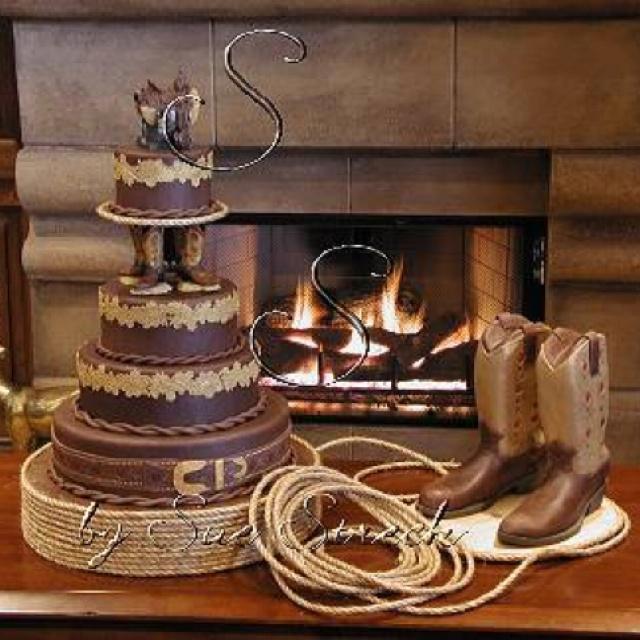 Western Wedding Cake - Wedding Photography