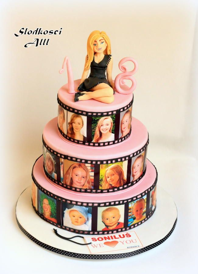 Super 6 Happy Birthday Cakes For 18 Year Old Photo 18Th Birthday Cake Personalised Birthday Cards Veneteletsinfo