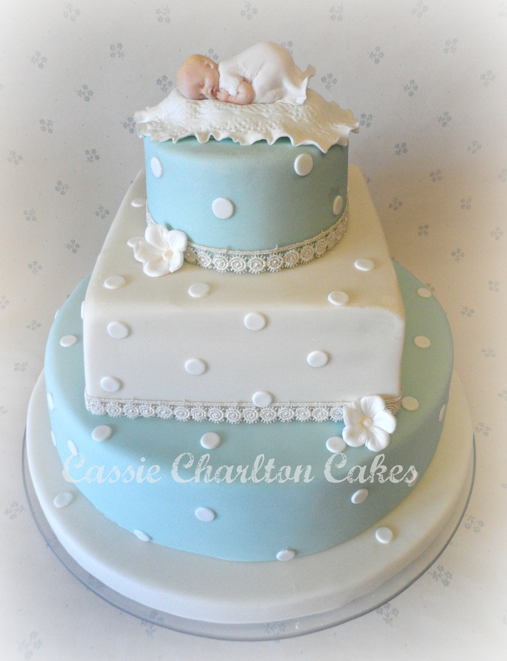 Baby Boy Baptism Cake Idea