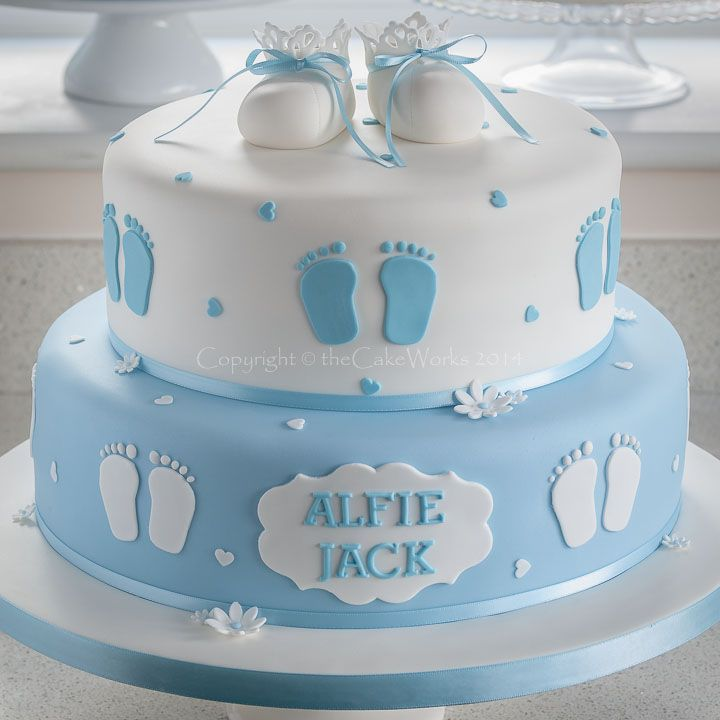 Baby Boy Christening Cake Designs