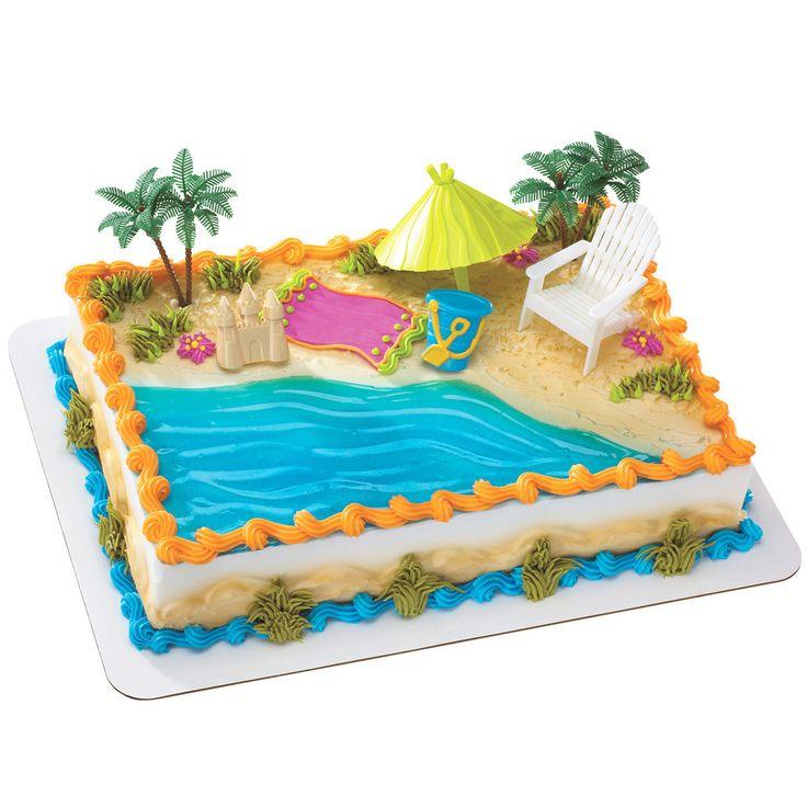 Superb 9 Tikia Summer Birthday Beach Cakes Photo Beach Chair Birthday Funny Birthday Cards Online Barepcheapnameinfo