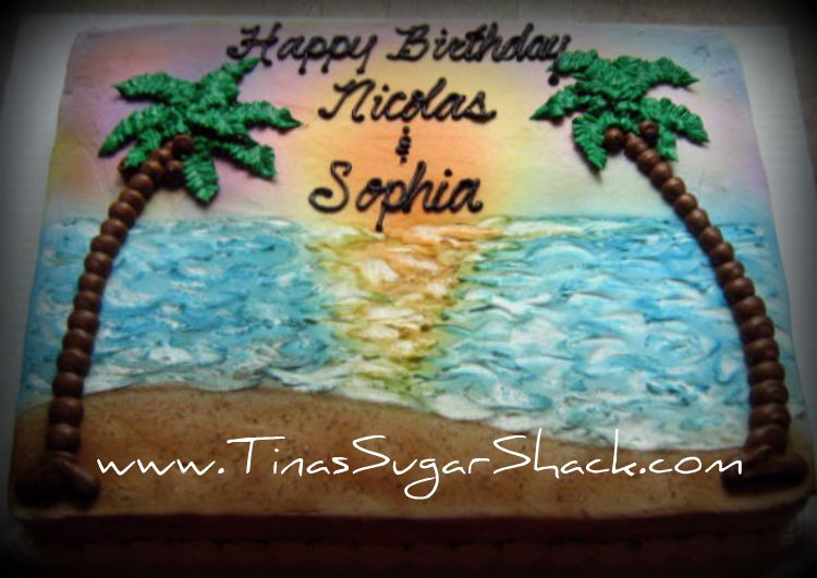 Beach Sheet Cake Antaexpocoaching