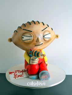 Pleasing 7 Cupcakes Stewie Griffin Photo Stewie Griffin Cake Family Guy Personalised Birthday Cards Veneteletsinfo
