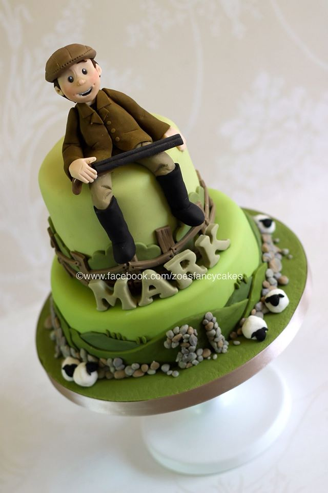 11 50th Birthday Cakes For Farmer Photo Farm Scene Birthday Cakes