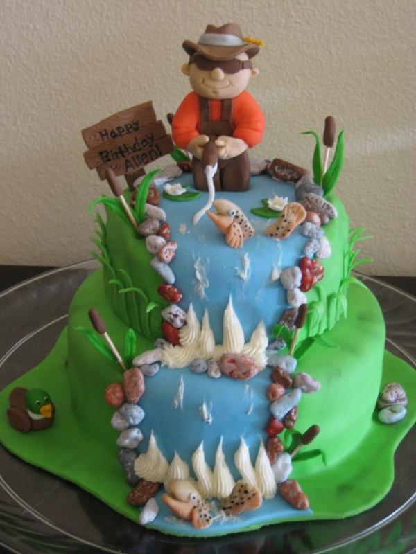 Astonishing 11 Birthday Cakes With Fisherman Theme Photo Fishing Birthday Funny Birthday Cards Online Eattedamsfinfo