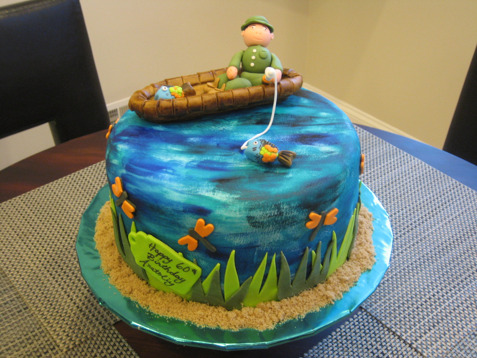 Strange 12 Fish Party Cakes Photo Bass Fish Birthday Cake Fishing Theme Funny Birthday Cards Online Alyptdamsfinfo