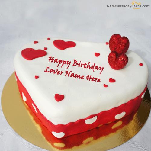 12 Birthday Cakes For Lover Photo Heart Love Birthday Cake Happy