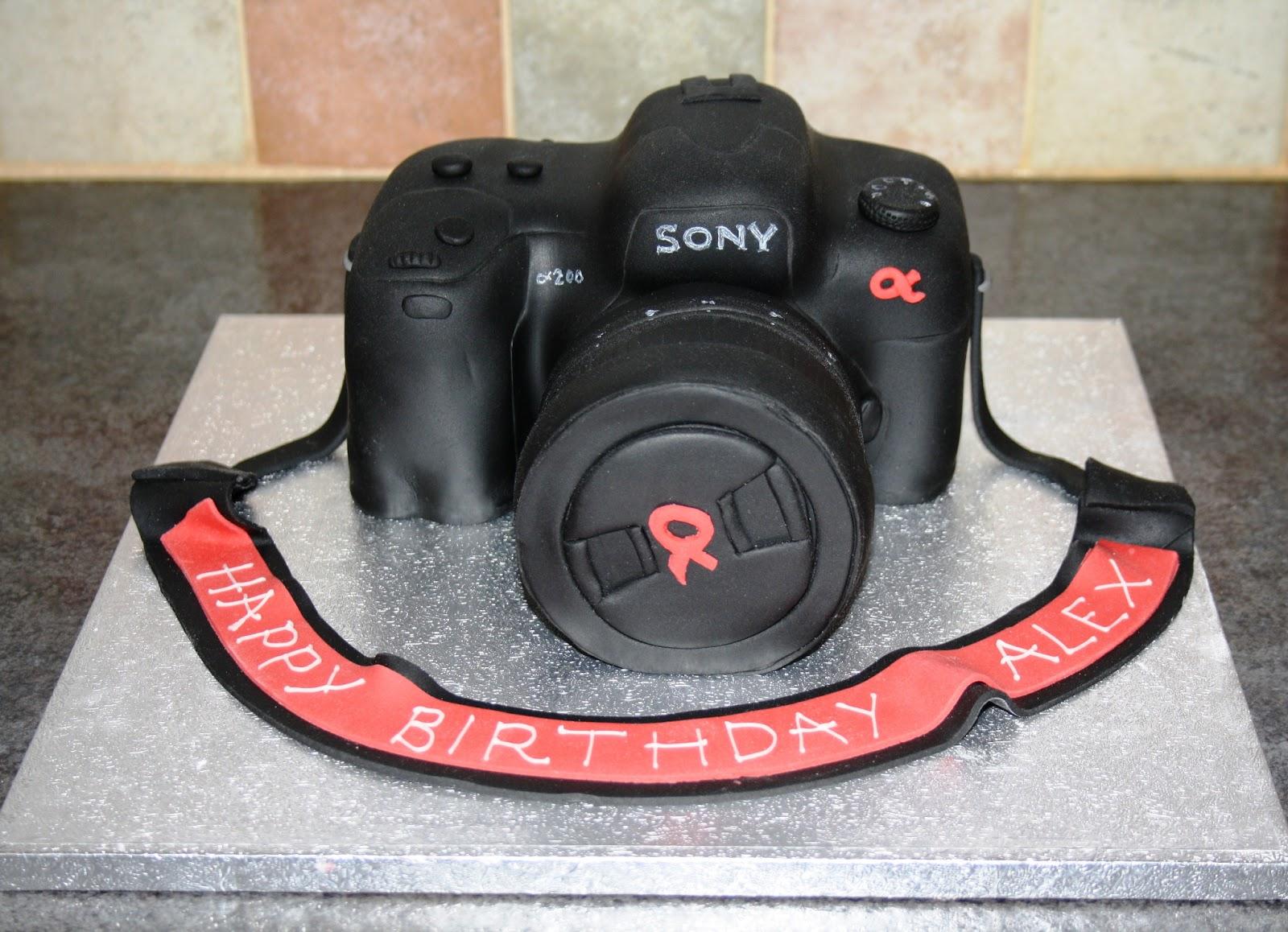 Fine 8 Sony Camera Birthday Cakes Photo Camera Birthday Cake Happy Funny Birthday Cards Online Benoljebrpdamsfinfo