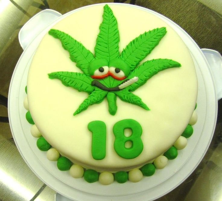 6 Weed Leaf Birthday Cakes Photo Happy Birthday Marijuana Leaf