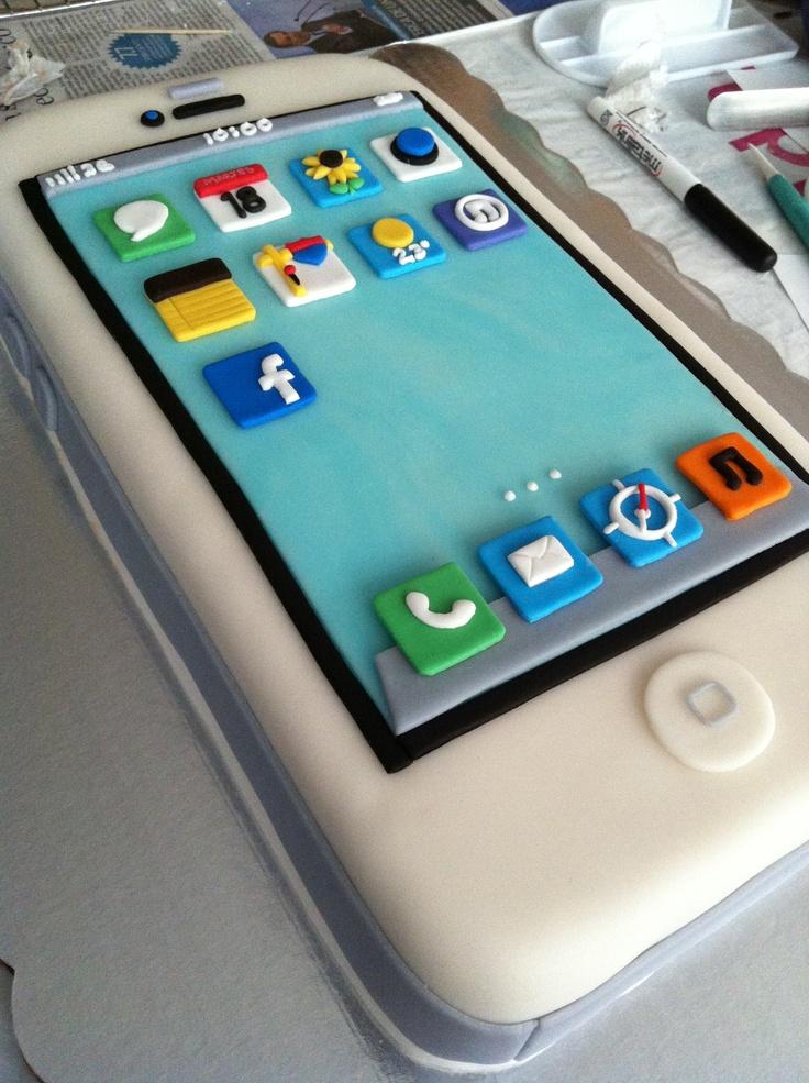 10 IPhone Fondant Cakes Photo iPhone Fondant Cake iPhoneCake and