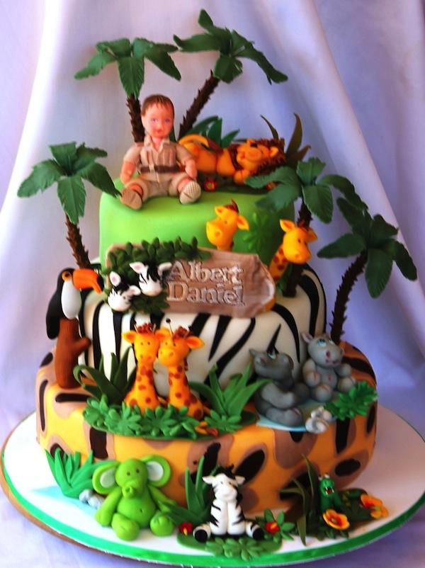 7 Jungle Animal Themed Cakes Photo Jungle Animal Theme Birthday