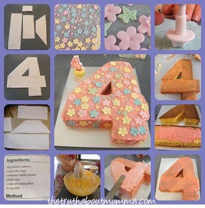 Make Number 4 Birthday Cake