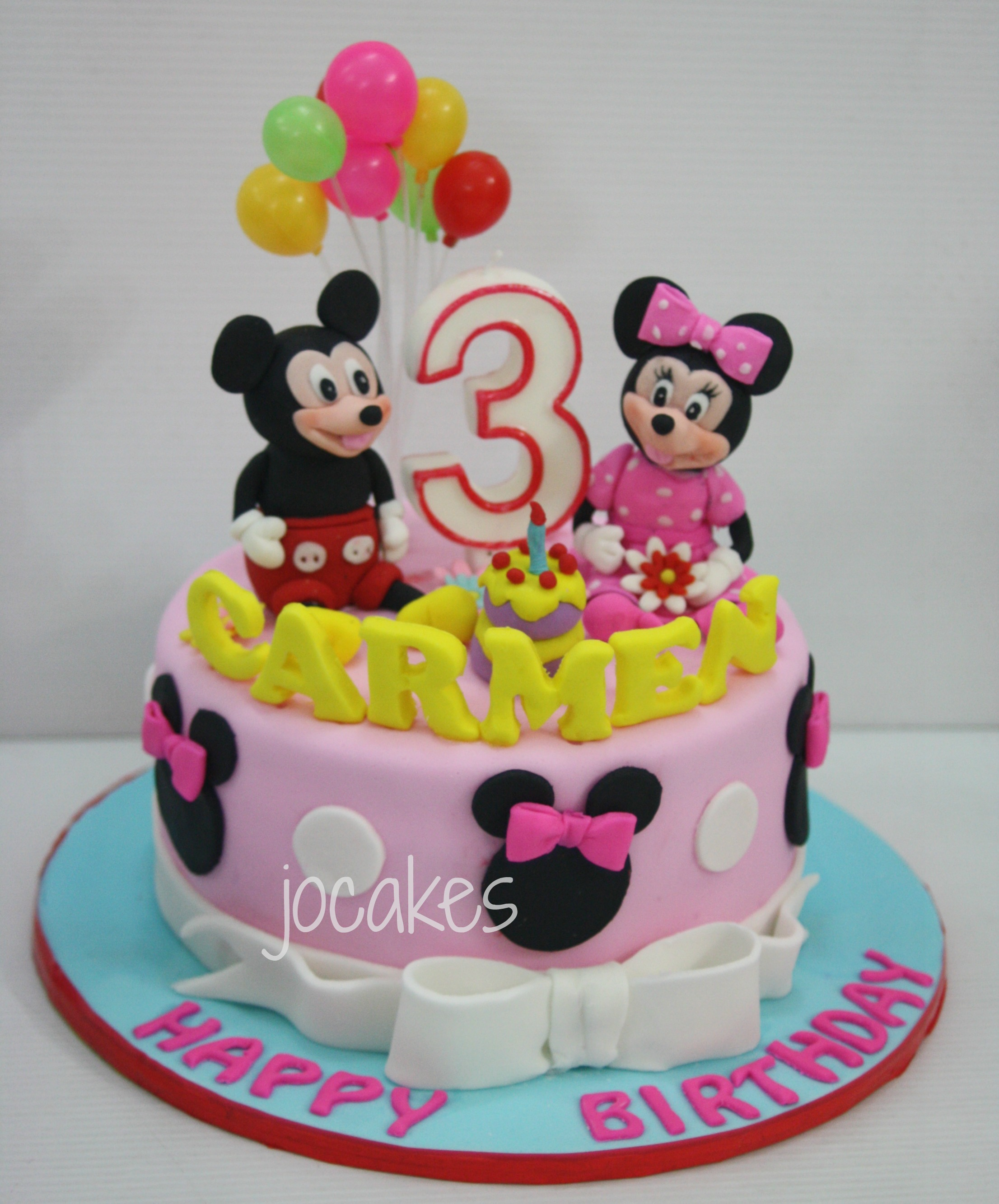Minnie Mouse Birthday Cake 3 Year Old