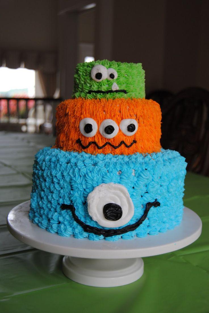 Monster Birthday Cakes For Boys