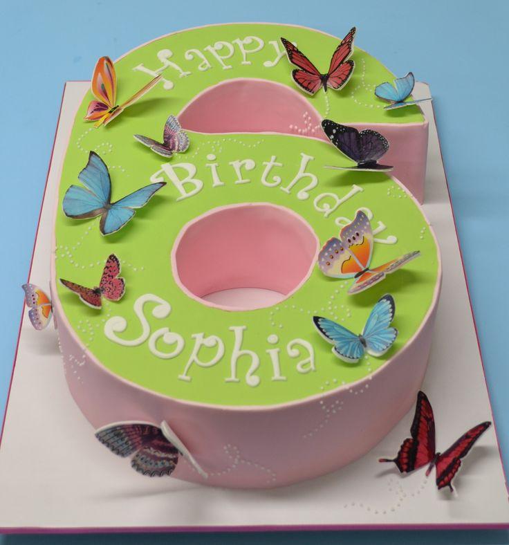 8 Numeric Birthday Cakes Photo Number 2 Shaped Birthday Cakes