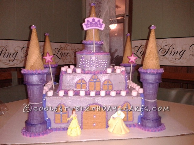 7 Homemade Castle Cakes For Girls Photo Princess Castle Birthday