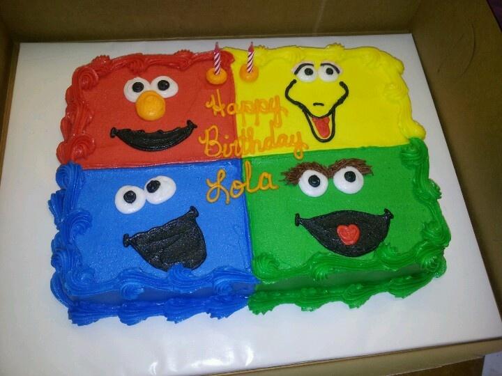 11 Sesame Street Sheet Cakes Photo Sesame Street Birthday Cake