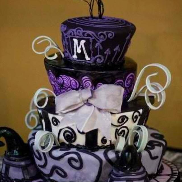 Tim Burton Inspired Wedding Cake