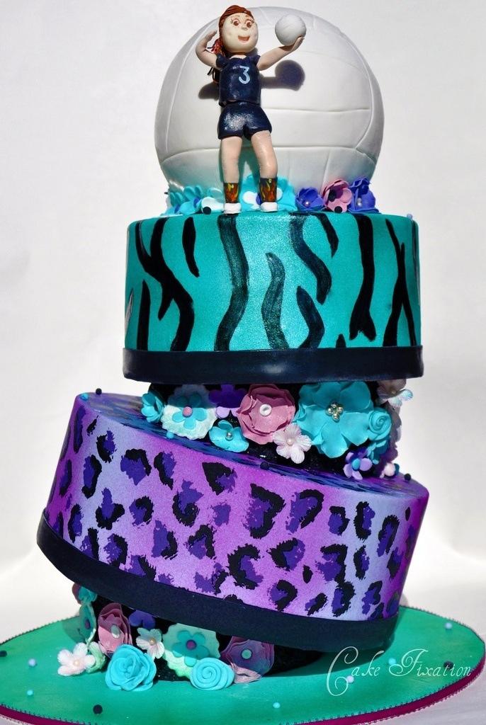 Peachy 10 13Th Birthday Cakes Volleyball Photo Volleyball Birthday Cake Personalised Birthday Cards Arneslily Jamesorg