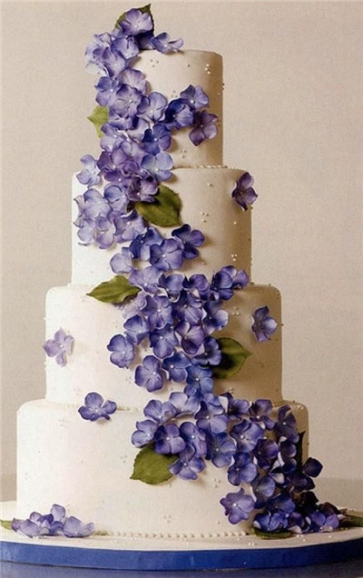 11 purple floral ivy cakes photo violet cakes with gumpaste wedding cake with hydrangea flowers mightylinksfo