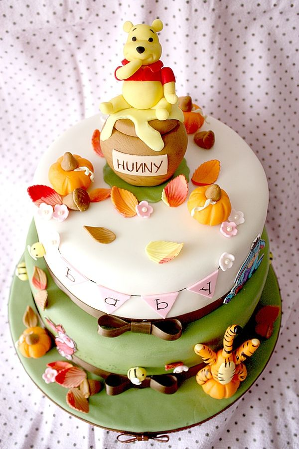 10 Winnie The Pooh Fall Baby Shower Cakes Photo Pooh Baby Shower