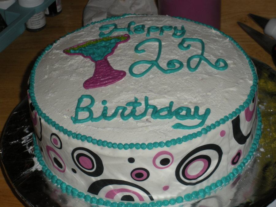 7 22nd Birthday Cakes For Girls Photo 22nd Birthday Cake Ideas