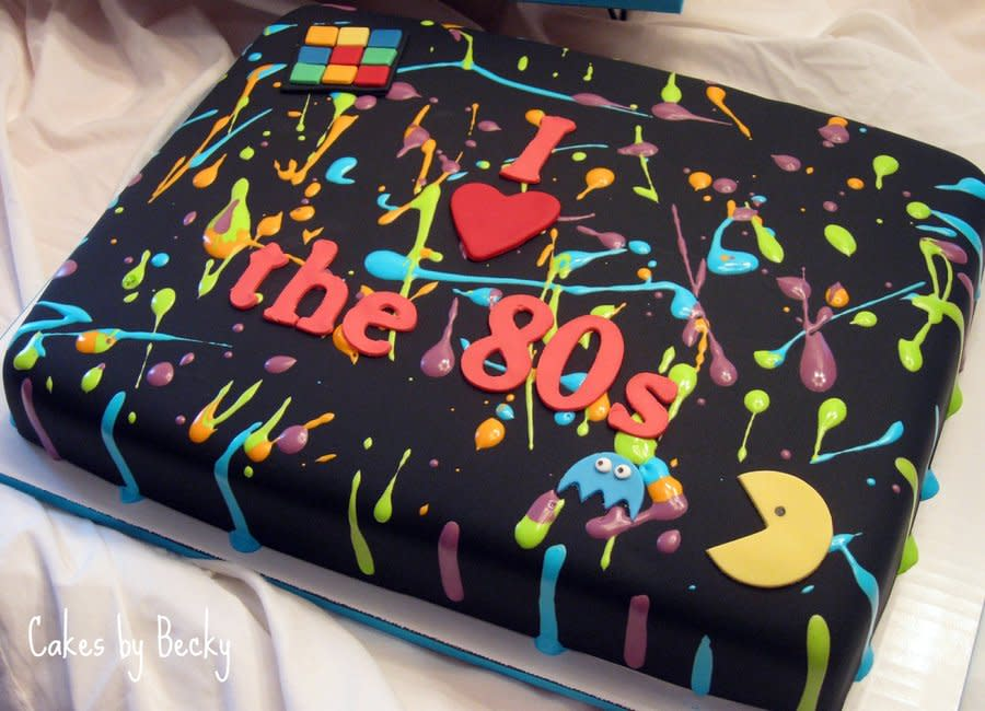 Amazing 11 80S Inspired Cakes Photo 80S Happy Birthday Cake 80S Themed Funny Birthday Cards Online Elaedamsfinfo