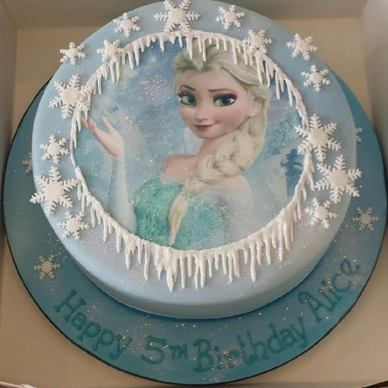 12 Party Cakes Elsa Photo Birthday Cake Frozen Elsa Frozen Elsa
