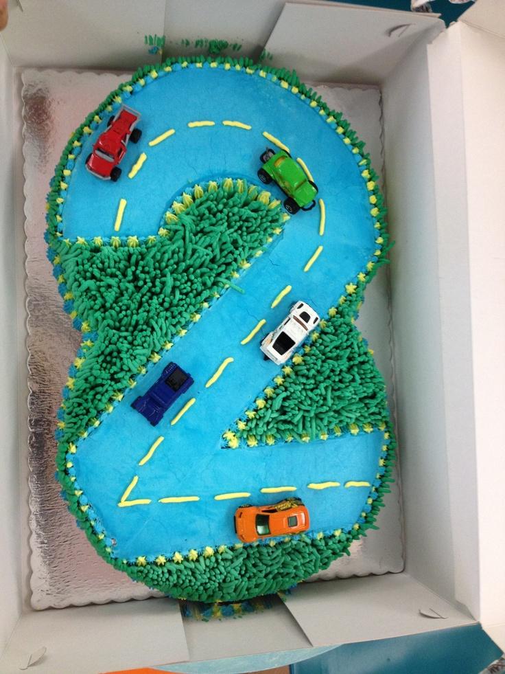 Car 2 Years Birthday Cake