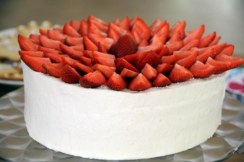 11 Cakes With Strawberries As Decorations Photo Chocolate Cake