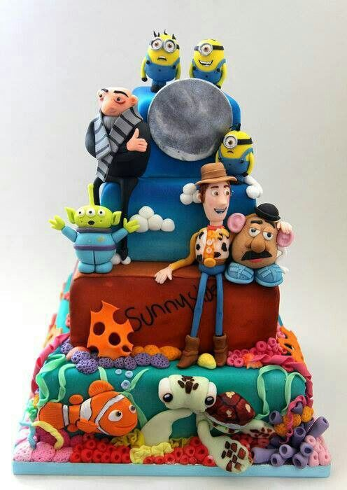 10 Disney Pixar Cakes Photo Disney Pixar Birthday Cake Disney