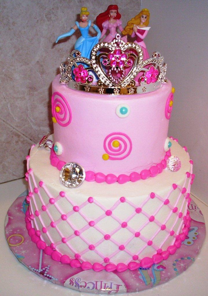 6 3d Cakes For Girls Photo Disney Princess Birthday Cakes 1st
