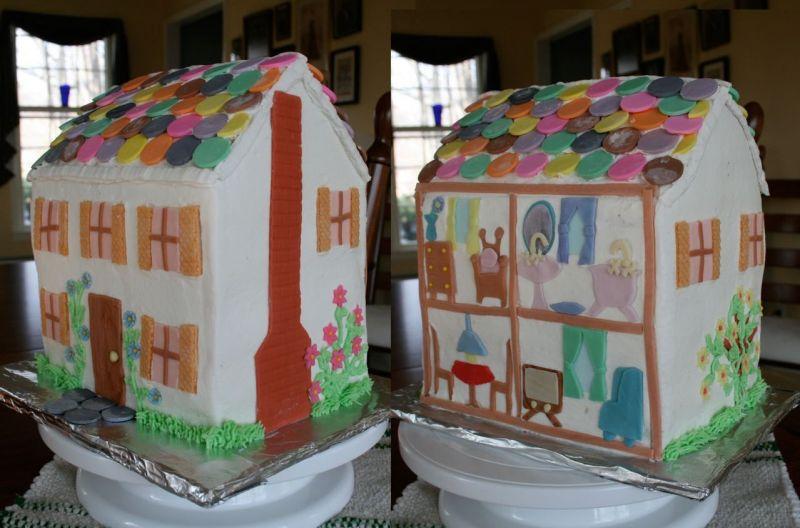 10 Doll House Shaped Cakes Photo Doll House Cake Wilton Dollhouse