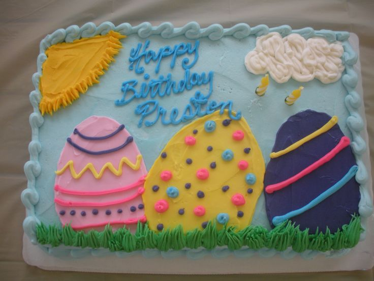 8 Easter Themed Birthday Day Cakes Photo Easter Bunny Birthday