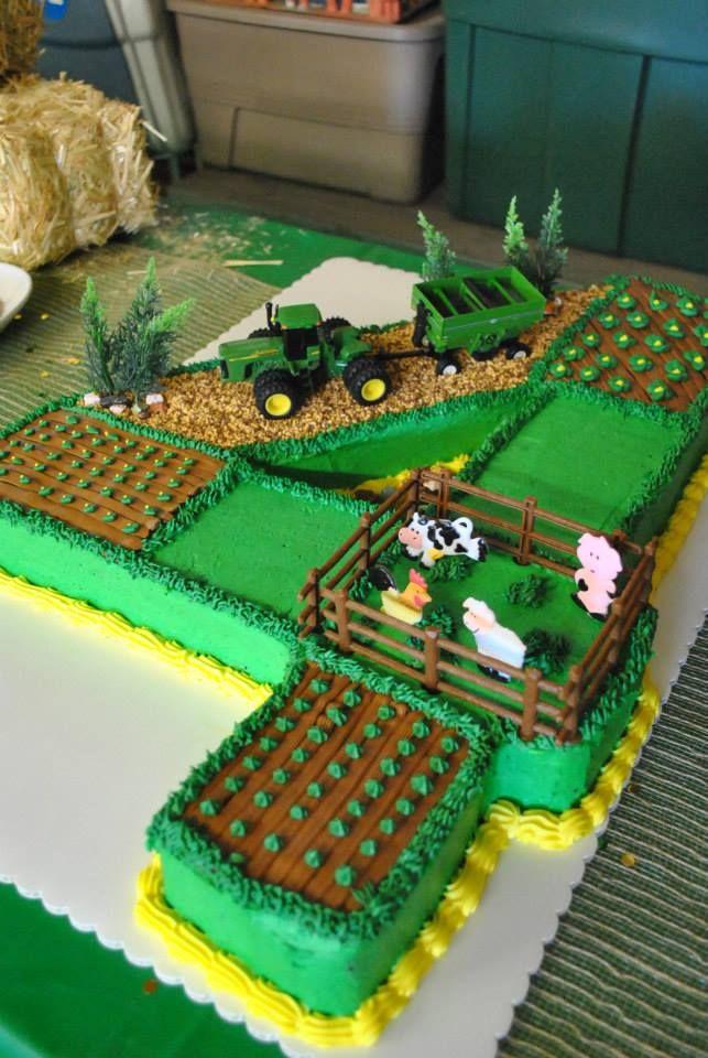 13 Farm Tractor Birthday Cakes Photo John Deere Farm Tractor Cake